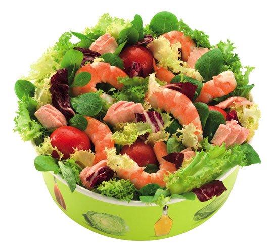 insalata salmone gamberi - McDonald's celebra le Olimpiadi con 5 insalate