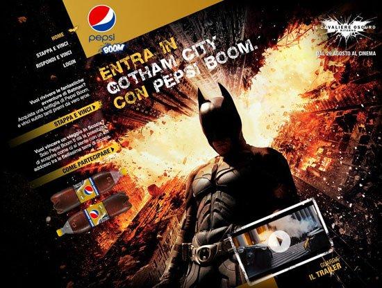 batscreen - Pepsi lancia un concorso per tutti i fan di Batman