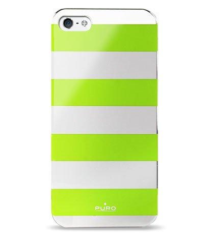 Stripe iPhone5 Verde - Puro Stripe Cover: lo smartphone si veste navy