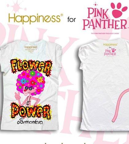 CPLG Happiness Pantera Rosa a Formentera - CPLG e Happiness presentano la T-Shirt culto dell'Estate 2013