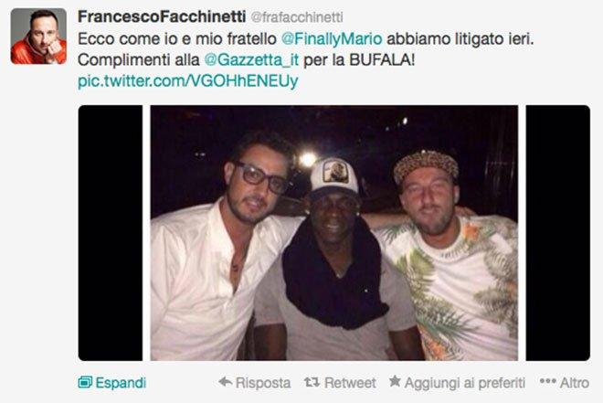 "Balotelli - Facchinetti? ""Nessuna rissa"" 21 Balotelli - Facchinetti? ""Nessuna rissa"""
