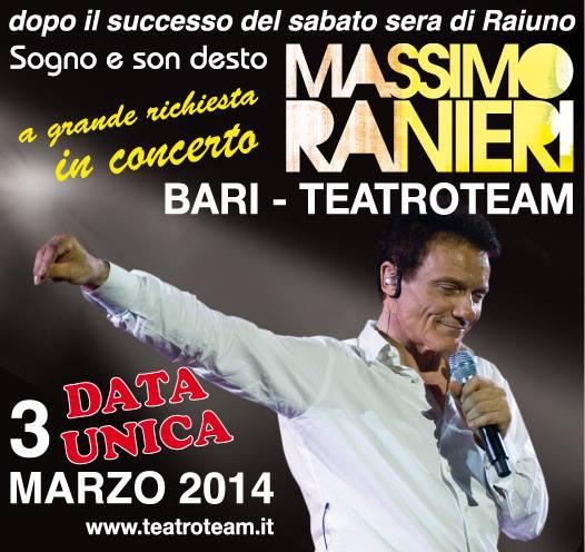 """Massimo Ranieri in concerto con """"Sogno e son desto"""" al Teatroteam di Bari 64 Massimo Ranieri in concerto con """"Sogno e son desto"""" al Teatroteam di Bari"""