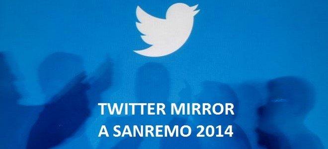 """Sanremo: al Festival sbarca Twitter Mirror per i """"selfie"""" di artisti e pubblico 40 Sanremo: al Festival sbarca Twitter Mirror per i """"selfie"""" di artisti e pubblico"""