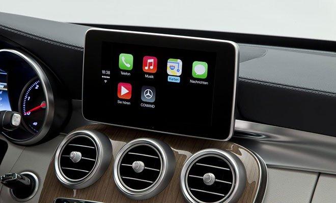 """Anteprima: """"CarPlay"""" di Apple sulla nuova Classe C 52 Anteprima: """"CarPlay"""" di Apple sulla nuova Classe C"""