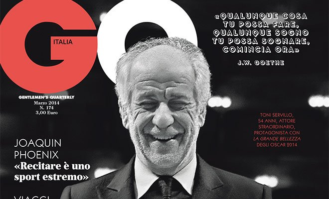 GQ ITALIA dedica la copertina a Toni Servillo, protagonista del film vincitore dell'Oscar 32 GQ ITALIA dedica la copertina a Toni Servillo, protagonista del film vincitore dell'Oscar