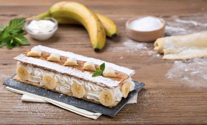 Millefoglie con banane e Crema alla Ricotta 22 Millefoglie con banane e Crema alla Ricotta