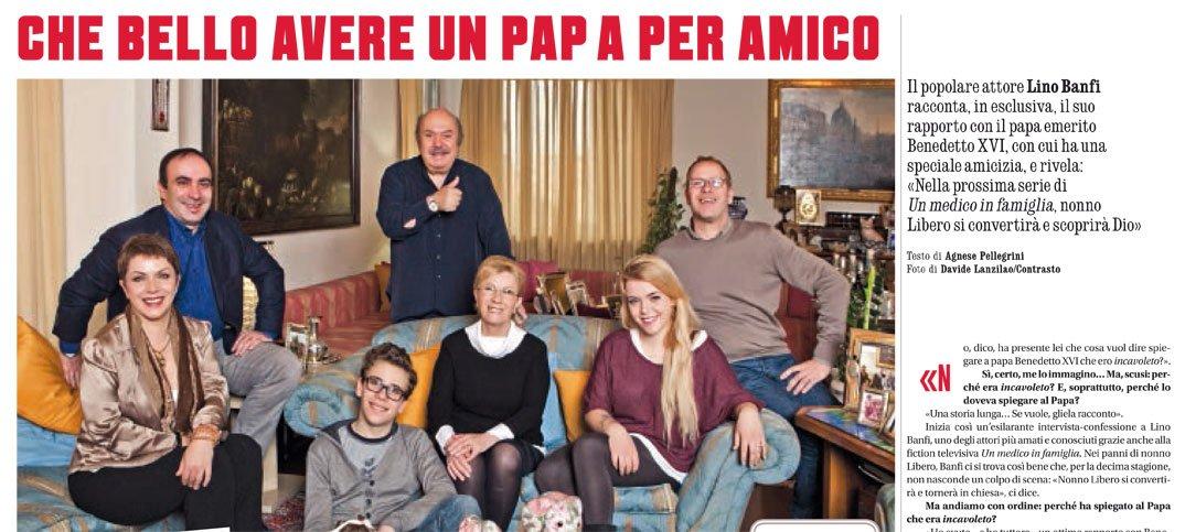 """Lino Banfi a """"Credere"""": «Vedrete che anche nonno Libero tornerà in chiesa» 52 Lino Banfi a """"Credere"""": «Vedrete che anche nonno Libero tornerà in chiesa»"""