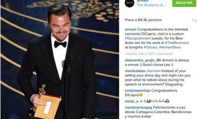 """Instagram Fashion Index """"Day 6"""" Giorgio Armani con #Oscars celebra Di Caprio e si conferma il Re dei social 26 Instagram Fashion Index """"Day 6"""" Giorgio Armani con #Oscars celebra Di Caprio e si conferma il Re dei social"""