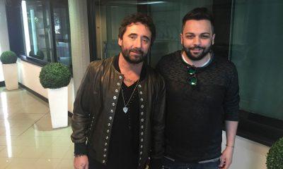 Federico Zampaglione e il direttore di Lifestyleblog.it, Bruno Bellini, negli studi di Radionorba
