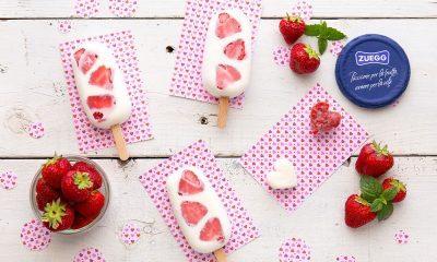 Gelati di yogurt alle fragole con cuore di Marmellata 22 Gelati di yogurt alle fragole con cuore di Marmellata