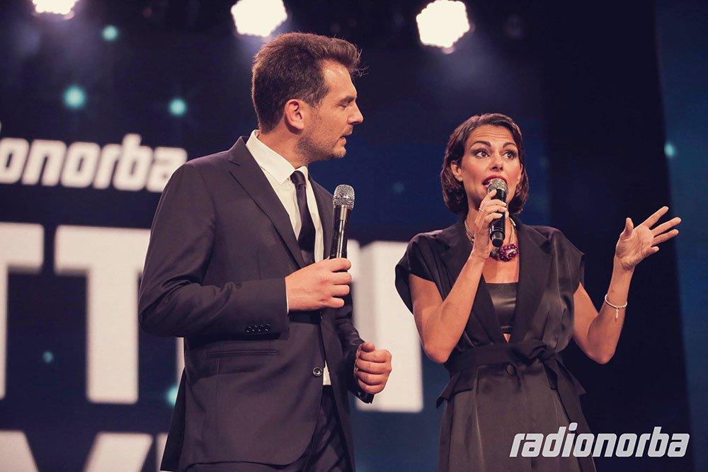 Alan Palmieri e Bianca Guaccero - foto radionorba