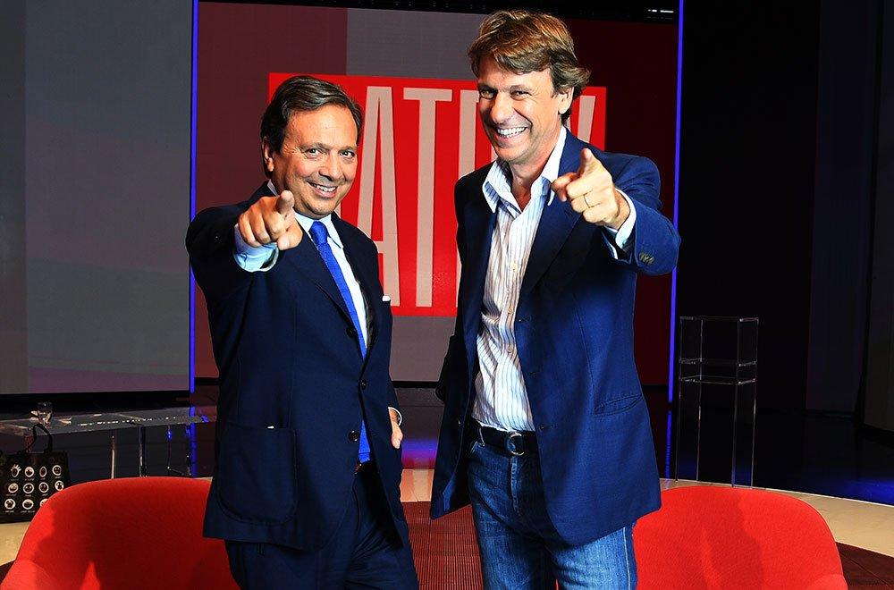 Piero Chiambretti e Nicola Porro, conduttori di Matrix su Canale 5