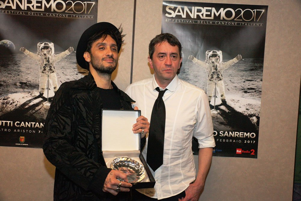Fabrizio Moro Stefano De Martino - Sanremo, a Moro e Maldestro il Premio Lunezia