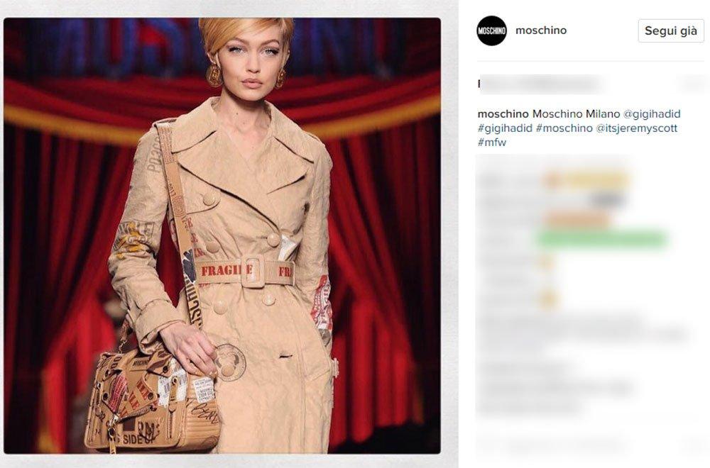 Moschino day2 - Milano Fashion Week su Instagram: nei primi due giorni trionfano Gucci e Moschino