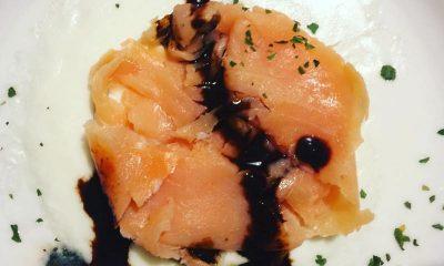 Tortino di salmone affumicato su letto di scamorza fusa e Ficotto 68 Tortino di salmone affumicato su letto di scamorza fusa e Ficotto