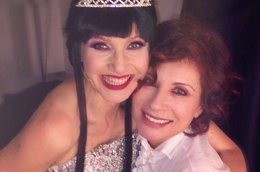 """cuccarini d eusanio - Alda D'Eusanio promuove il musical """"La regina di ghiaccio"""" con Lorella Cuccarini"""