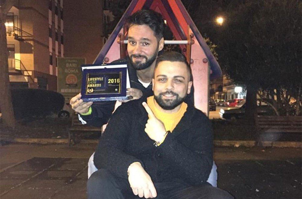 Stefano Mastrolitti premiato dal direttore Bruno Bellini