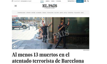 La home page di El Pais