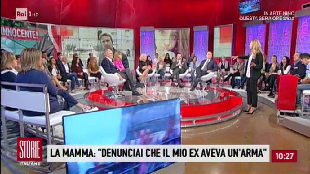 L'intervento di Cataldo Calabretta sulla vicenda della povera Nicolina durante la trasmissione di Raiuno Storie Italiane condotta da Eleonora Daniele