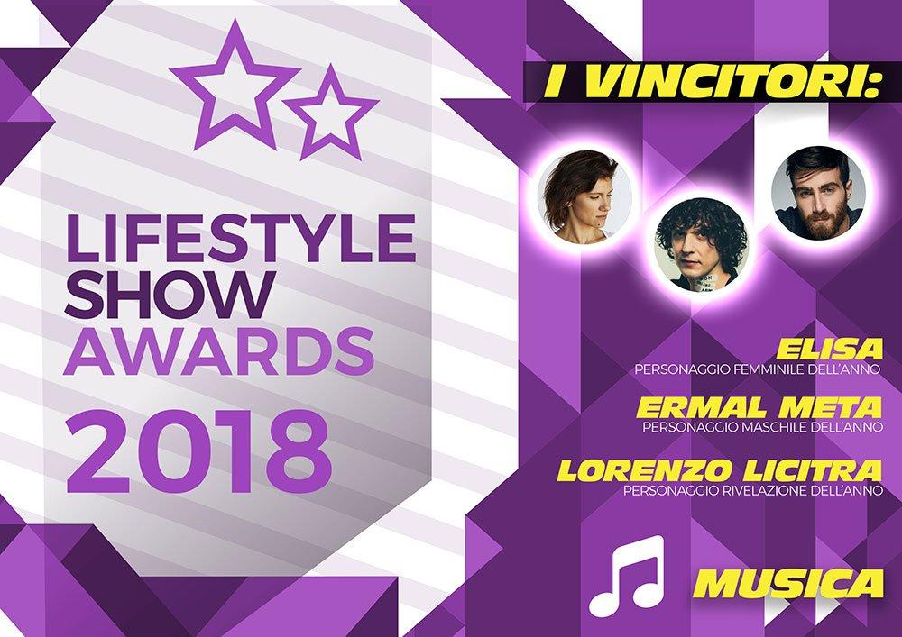 Lifestyle Show Awards 2018 - Musica: ecco i vincitori 6 Lifestyle Show Awards 2018 - Musica: ecco i vincitori