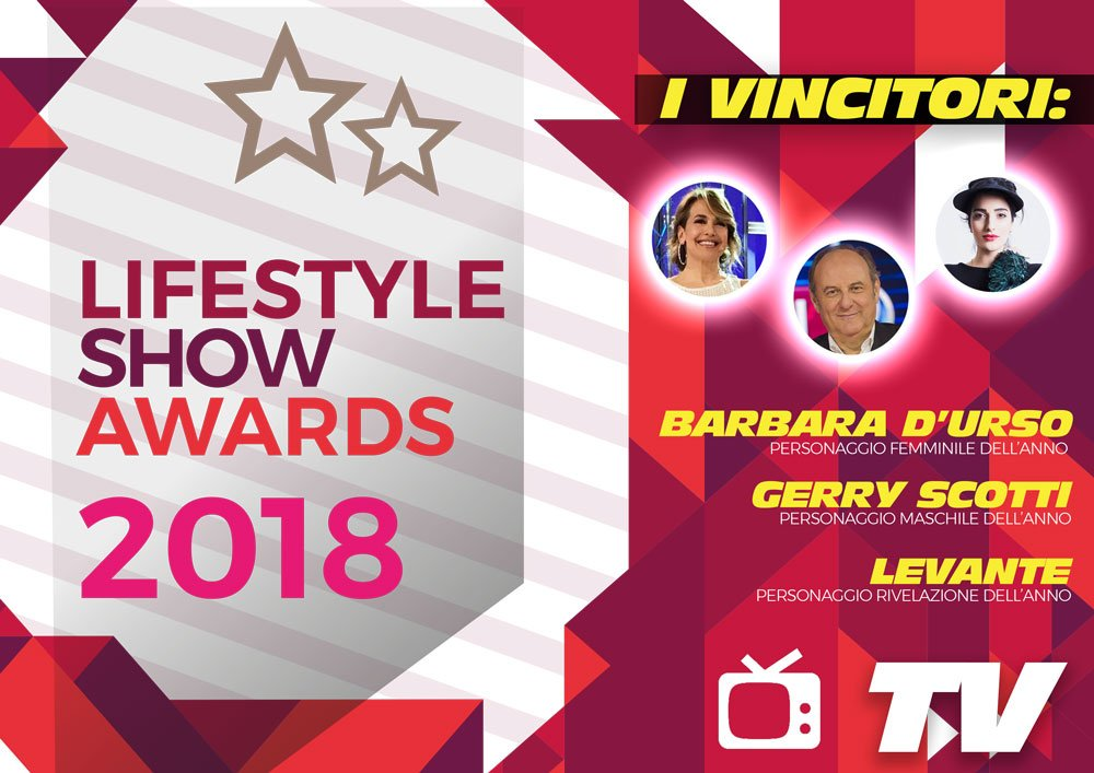 Lifestyle Show Awards 2018 - TV : ecco i vincitori 7 Lifestyle Show Awards 2018 - TV : ecco i vincitori
