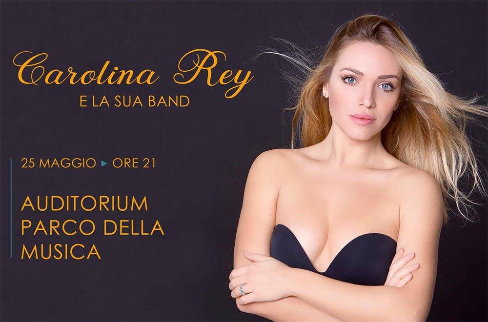 carolina rey - Carolina Rey e la sua band in concerto all'Auditorium Parco della Musica di Roma