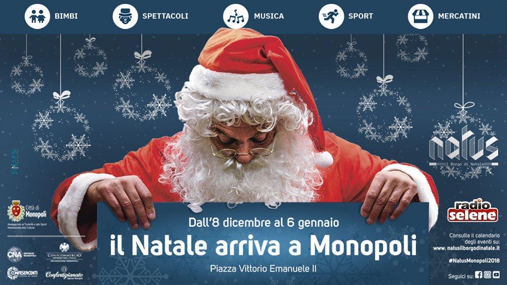 Natale 2018: a Monopoli c'è Natus 18 Natale 2018: a Monopoli c'è Natus