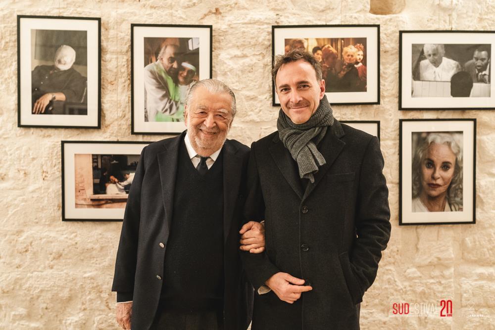 Pupi Avati con Michele Suma, direttore del Sudestival (Foto Life in frames)