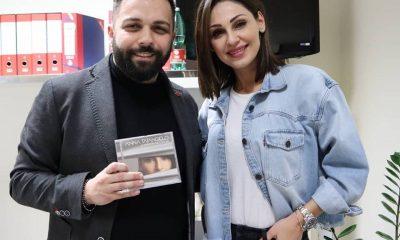 Anna Tatangelo e il direttore di Lifestyleblog.it, Bruno Bellini