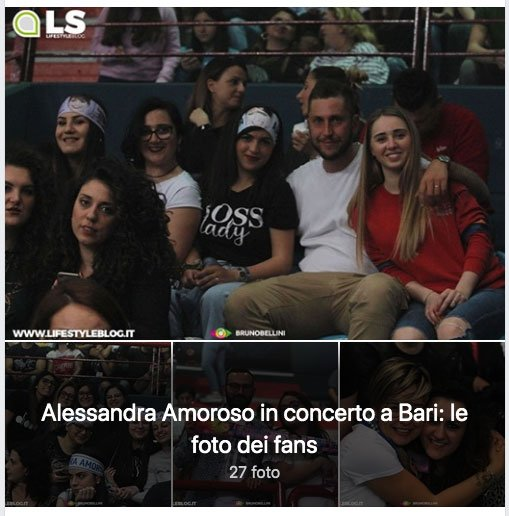 I fans di Alessandra Amoroso