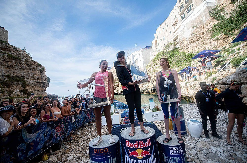 Red Bull Cliff Diving 2019 - Polignano - Il podio femminile