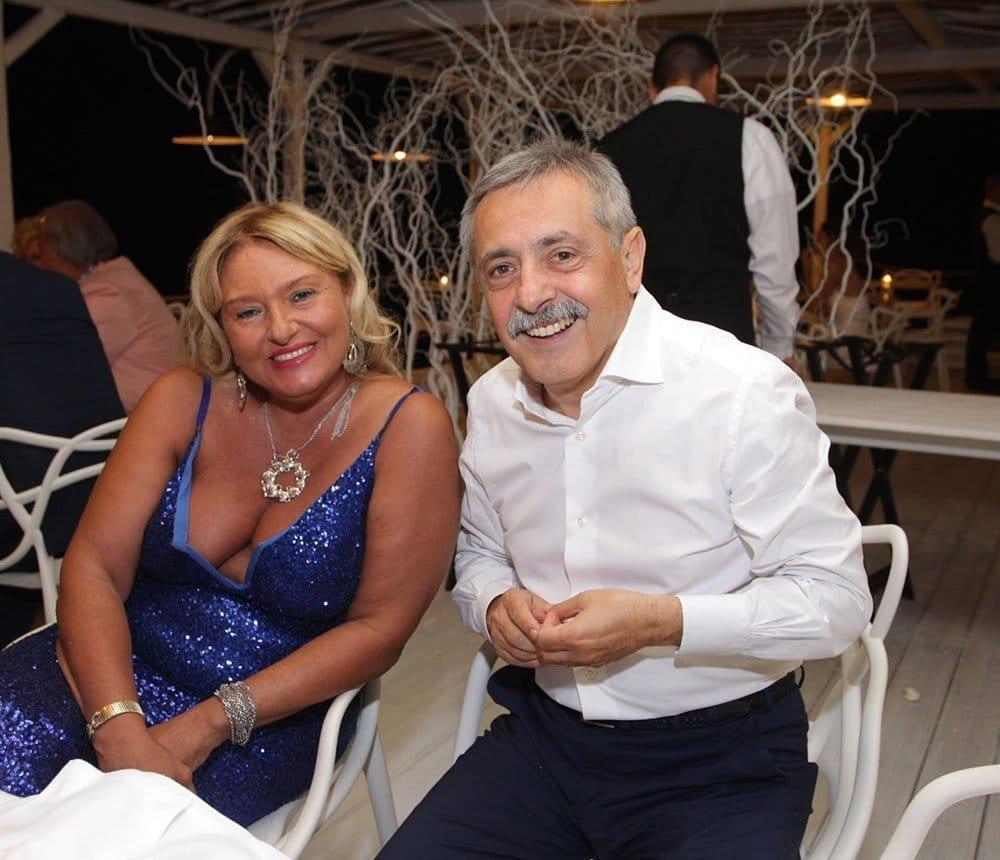 Monica Setta con il direttore del TgNorba, Enzo Magistà