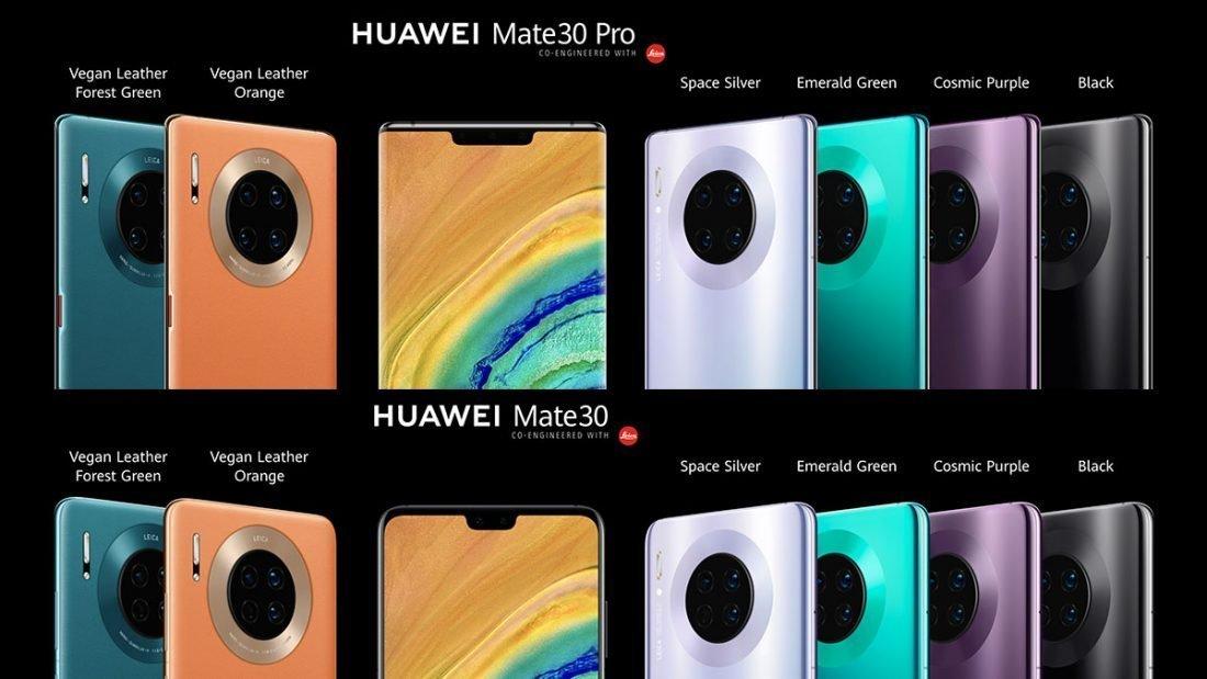 Huawei Mate 30 e Huawei Mate 30 Pro