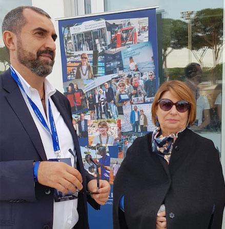 Umberto Guidoni e Maria Bianca Farina