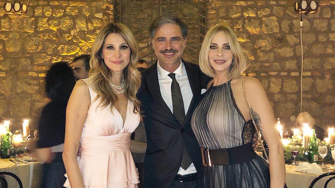 Adriana Volpe e Stefania Orlando con Beppe Convertini
