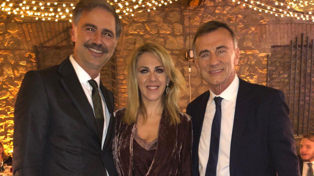 Beppe Convertini con Lisa Marzoli e Michele Cucuzza