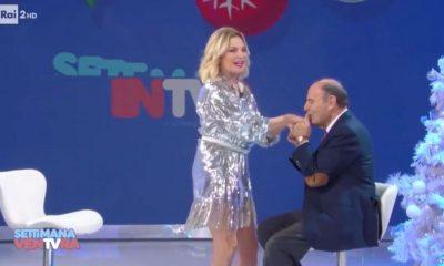 Simona Ventura e Bruno Vespa