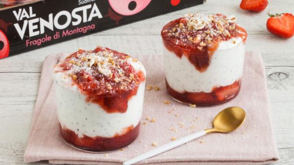 chia pudding alle fragole 5 600x337 - Chia pudding alle fragole e latte di cocco