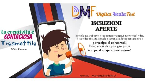 dmf2020 600x337 - Iscrizioni aperte al Digital Media Fest: il cinema riparte dal web