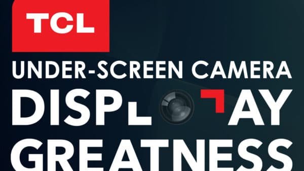 under screen camera smartphone 600x337 - Smartphone con fotocamera sotto lo schermo di TCL