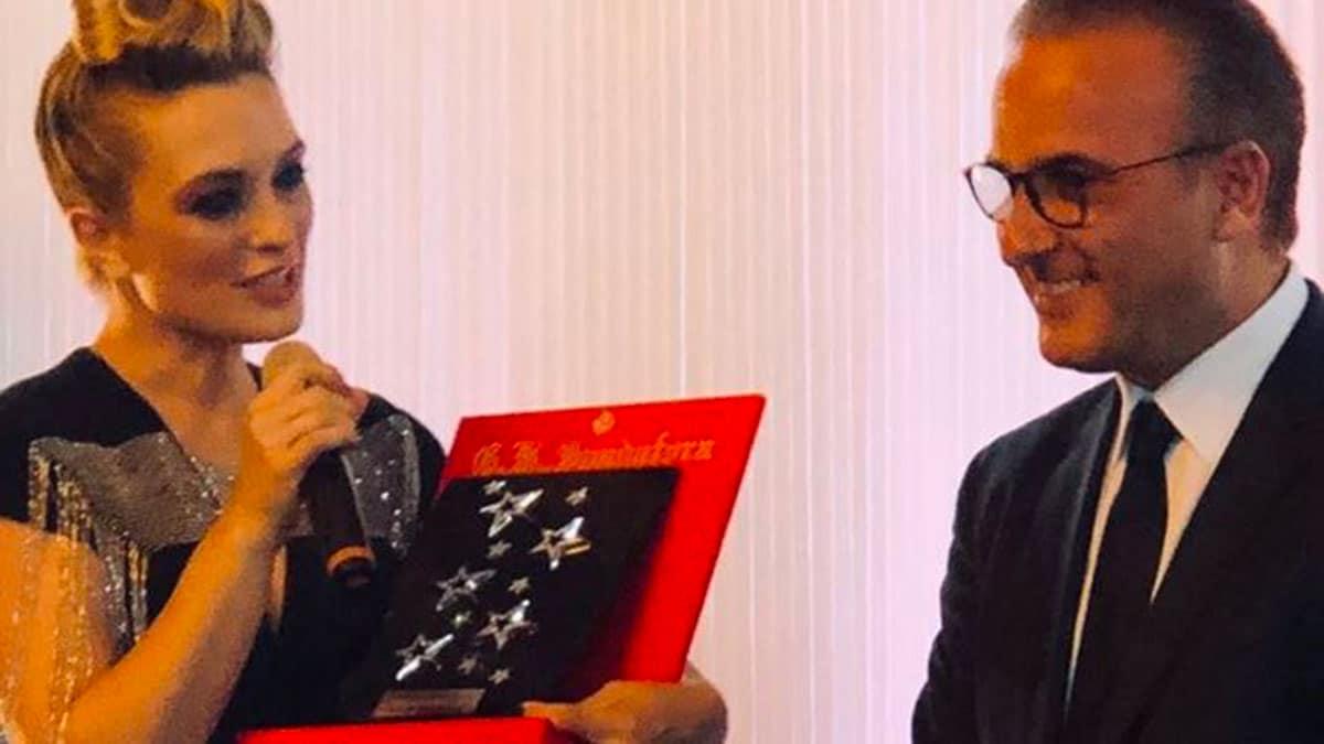 CRESCENTINI CON IL PREMIO STARLIGHT E LORAFO SPADAFORA - A Venezia International Starlight Cinema Award 2020