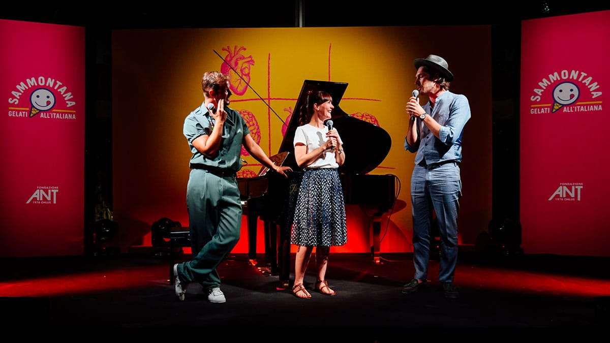 Paolo Stella con Victoria Cabello e Giovanni Caccamo