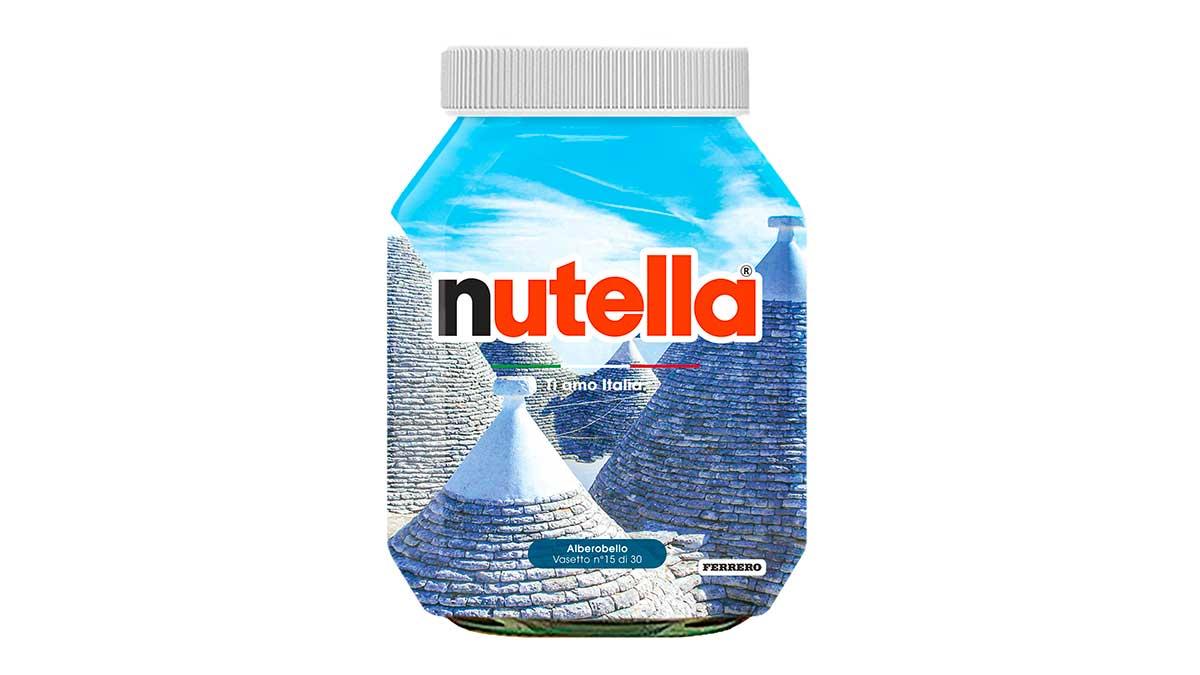 Puglia Alberobello - Special edition di Nutella: Ti amo Italia