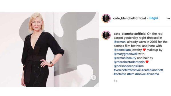 cate blanchett 600x337 - I beauty look più chiacchierati alla Mostra del Cinema di Venezia
