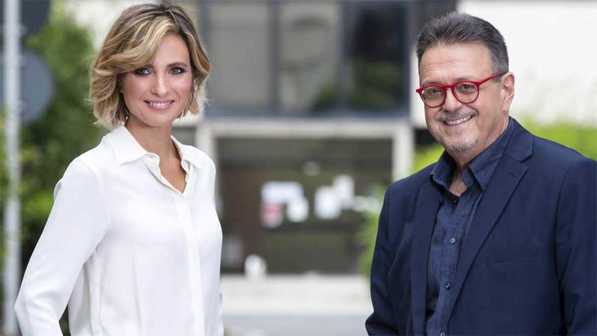 Monica Giandotti e Marco Frittella, conduttori di Unomattina 2020/2021