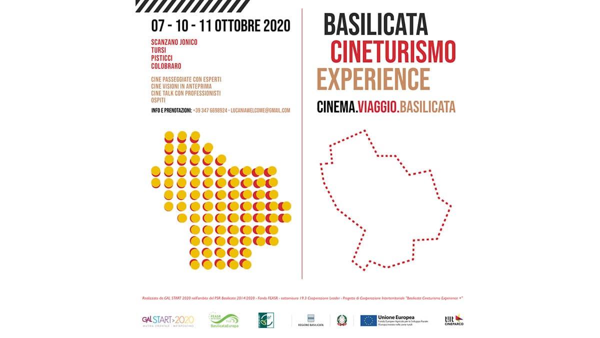 Banner stampa - Le tre giornate del Cinema, viaggio e Basilicata
