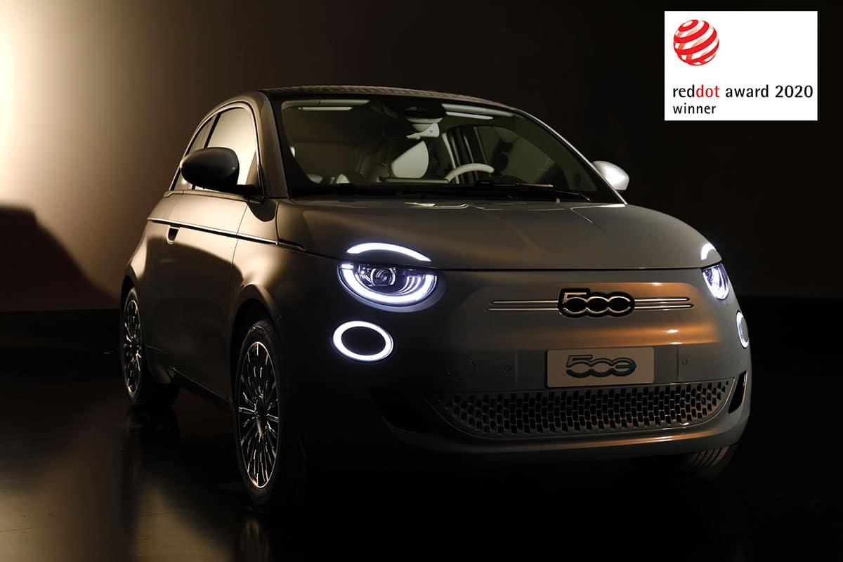 "Fiat New 500 wins the Red Dot Award 2020 - Fiat Nuova 500 vince il ""Red Dot Award 2020"""