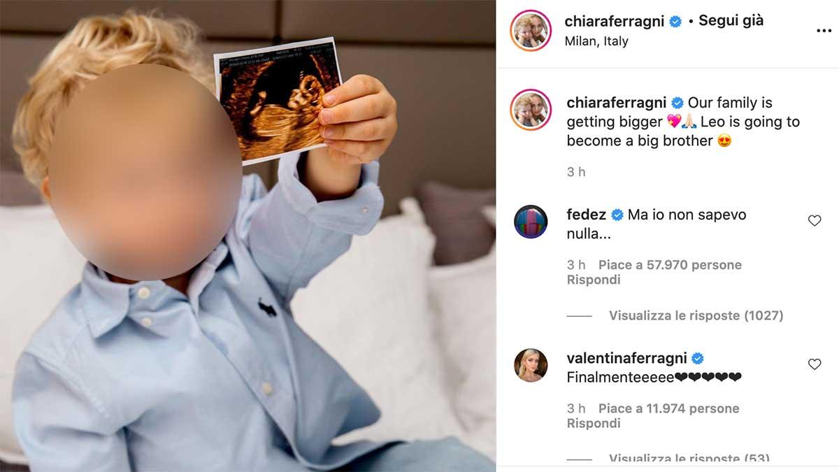 chiara ferragni fedez - Chiara Ferragni e Fedez aspettano il secondo figlio