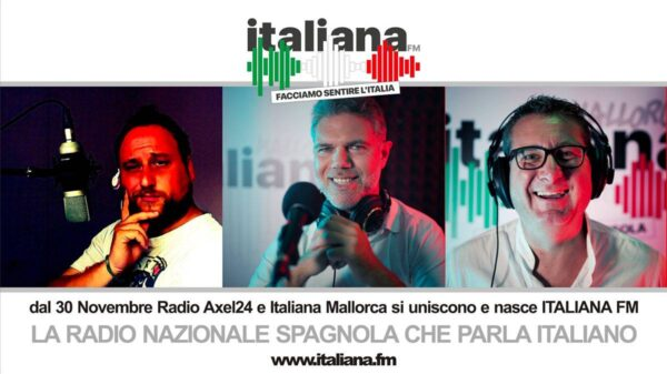 italiana fm 600x337 - Nasce Italiana FM, la radio spagnola che parla italiano