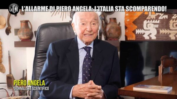 """piero angela iene 600x337 - L'allarme di Piero Angela: """"L'Italia sta scomparendo"""""""